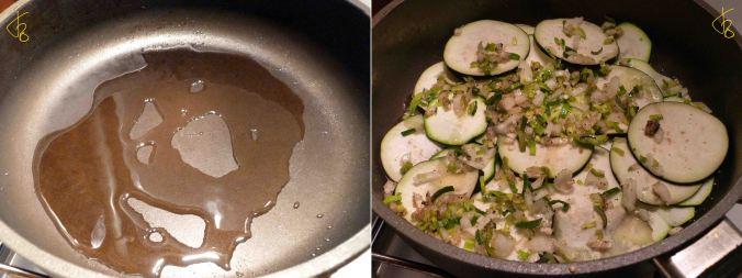 Zaziki mit Zucchini, Aubergine