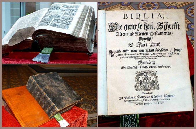 Originaler Buchdruck der Luther-Bibel aus 1620