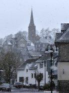 Die evangelische Kirche im Schneegesöber