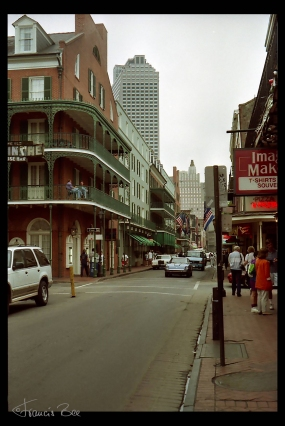 Bourbon St. Straßenszene
