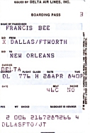 Flugticket: Dallas-New Orleans