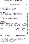 Flugticket: Dallas-New Orleans